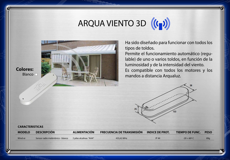 DATOS TÉCNICOS ARQUAVIENTO 3D